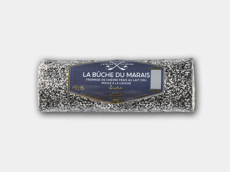La bûche du Marais cendrée 300g - fromage de chèvre au lait cru - moulé à la louche - Atelier de la sèvre