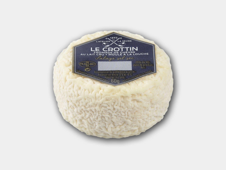 Le Crottin 60g - fromage de chèvre au lait cru - moulé à la louche - Atelier de la sèvre