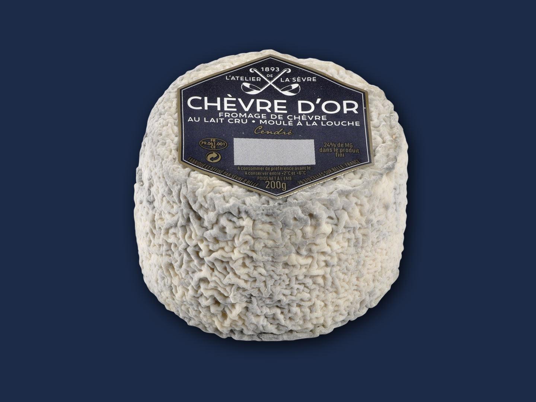 Le Chèvre d'or cendré 200g - fromage de chèvre au lait cru - moulé à la louche - Atelier de la Sèvre