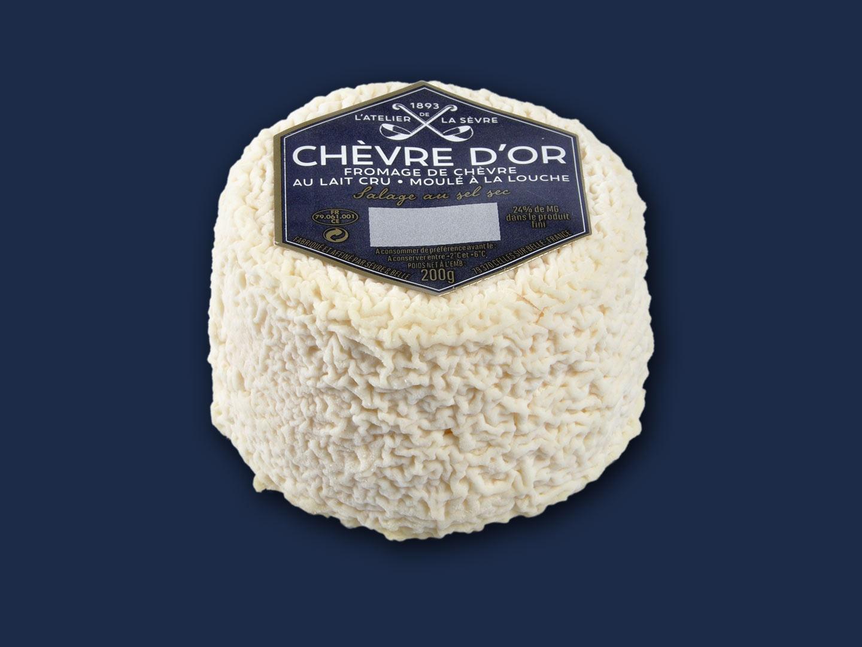Le Chèvre d'or nature 200g - fromage de chèvre au lait-cru - moulé à la louche - Atelier de la sèvre