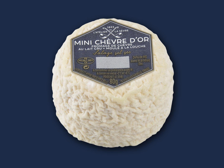 Le mini Chèvre d'or nature 80g - fromage de chèvre au lait cru - moulé à la louche - Atelier de la sèvre