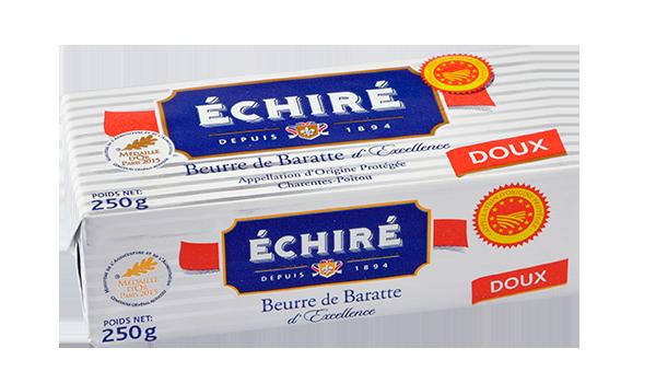Plaquette de 250g - Beurre Doux - Baratte en Bois - Echiré