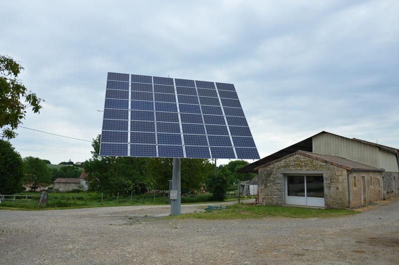 Tracker solaire - panneau solaire - développement durable - Coopérative laitière de la Sèvre - terroir - Echiré